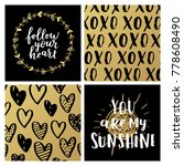 set of greeting cards for... | Shutterstock . vector #778608490