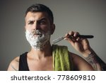 haircut of bearded man ... | Shutterstock . vector #778609810