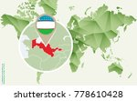 infographic for uzbekistan ... | Shutterstock .eps vector #778610428