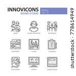 sound studio   line design... | Shutterstock .eps vector #778614949