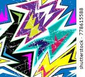 graffiti bright psychedelic...   Shutterstock .eps vector #778615588