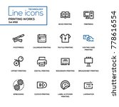 printing works   line design... | Shutterstock .eps vector #778616554
