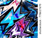 graffiti bright psychedelic...   Shutterstock .eps vector #778617670