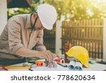 engineer inspection in... | Shutterstock . vector #778620634