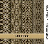 set of art deco seamless...   Shutterstock .eps vector #778621909