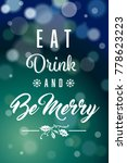 dark green blue eat drink be... | Shutterstock . vector #778623223