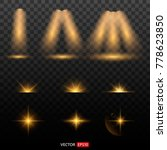 shining star  the sun particles ... | Shutterstock .eps vector #778623850