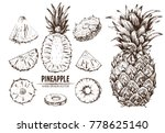 digital vector detailed line... | Shutterstock .eps vector #778625140