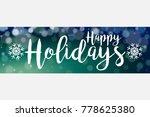 dark blue green soft focus...   Shutterstock . vector #778625380