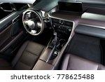 modern luxury car  interior ... | Shutterstock . vector #778625488