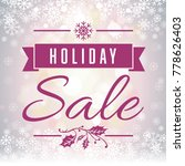 holiday sale soft focus... | Shutterstock . vector #778626403