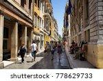 corfu greece   july 10  2017 ...   Shutterstock . vector #778629733