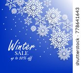 blue winter background with... | Shutterstock .eps vector #778641643