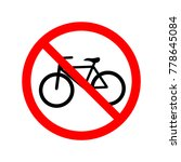 no bicycle sign. symbol ...   Shutterstock .eps vector #778645084