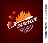 barbecue party logo | Shutterstock .eps vector #778645180