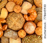 collection bread products  buns ...   Shutterstock . vector #778645930