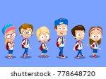 vector illustration of cute... | Shutterstock .eps vector #778648720