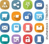 flat vector icon set   share... | Shutterstock .eps vector #778650514