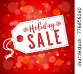red soft focus holiday sale tag ... | Shutterstock . vector #778658260