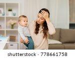 motherhood  multi tasking and... | Shutterstock . vector #778661758