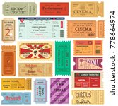 set of isolated tickets or... | Shutterstock .eps vector #778664974