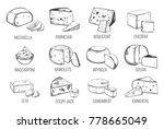 set of sketches of vegetarian...   Shutterstock .eps vector #778665049