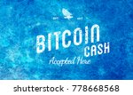 bitcoin cash blue accepted here ...   Shutterstock . vector #778668568