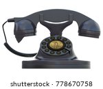 old black telephone with dial... | Shutterstock . vector #778670758