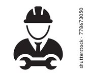 worker icon vector male service ...   Shutterstock .eps vector #778673050