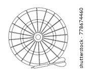 isolated dartboard design   Shutterstock .eps vector #778674460