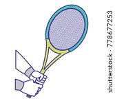 tennis racket design | Shutterstock .eps vector #778677253