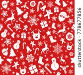 christmas wrapping paper  ... | Shutterstock .eps vector #778677856