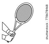 tennis racket design | Shutterstock .eps vector #778678468