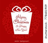 christmas gifts with gift card... | Shutterstock .eps vector #778681909