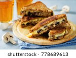 gauda cheese roasted mushrooms... | Shutterstock . vector #778689613