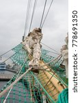 the detail of the tall ship | Shutterstock . vector #778691350