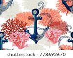 beautiful seamless vector... | Shutterstock .eps vector #778692670
