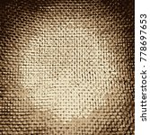 Close Up Of A Jute Material ...