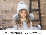 beautiful blonde girl  has... | Shutterstock . vector #778699588