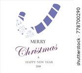 christmas card 2018 | Shutterstock .eps vector #778700290