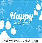 christmas cards 2018 per year... | Shutterstock .eps vector #778701898