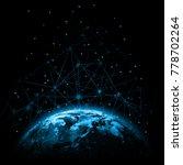 earth from space. best internet ...   Shutterstock . vector #778702264