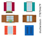 set of open colorful different... | Shutterstock .eps vector #778704679