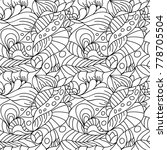 seamless psychedelic pattern.... | Shutterstock .eps vector #778705504
