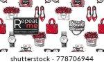 vector hand drawn fashion... | Shutterstock .eps vector #778706944