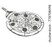 italian pizza  pizza design... | Shutterstock .eps vector #778708498