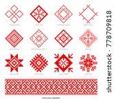 slavic red and belarusian... | Shutterstock . vector #778709818