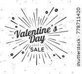 valentines day vector vintage... | Shutterstock .eps vector #778711420