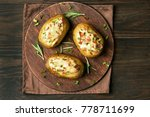 stuffed potatoes with bacon ... | Shutterstock . vector #778711699