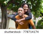 young couple enjoying... | Shutterstock . vector #778714174